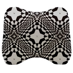 Tile Repeating Pattern Texture Velour Head Support Cushion