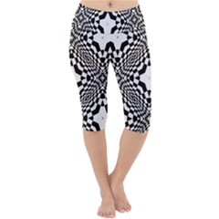 Tile Repeating Pattern Texture Lightweight Velour Cropped Yoga Leggings