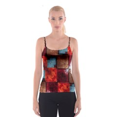 Abstract Depth Structure 3d Spaghetti Strap Top