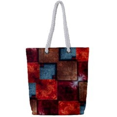 Abstract Depth Structure 3d Full Print Rope Handle Tote (small)