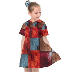 Abstract Depth Structure 3d Kids  Sailor Dress by Pakrebo