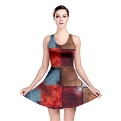 Abstract Depth Structure 3d Reversible Skater Dress