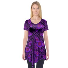Spheres Combs Structure Regulation Short Sleeve Tunic