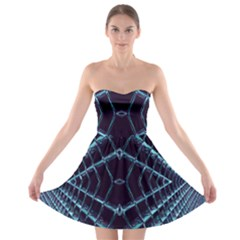 Sci Fi Texture Futuristic Design Strapless Bra Top Dress
