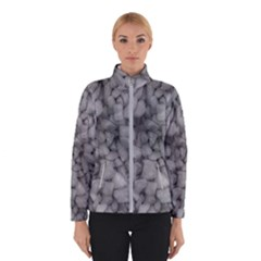Soft Gray Stone Pattern Texture Design Winter Jacket