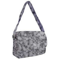 Soft Gray Stone Pattern Texture Design Courier Bag by dflcprintsclothing