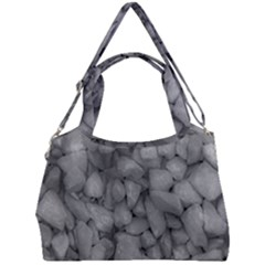 Soft Gray Stone Pattern Texture Design Double Compartment Shoulder Bag by dflcprintsclothing
