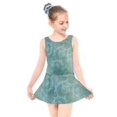 Background Green Structure Texture Kids  Skater Dress Swimsuit by Alisyart