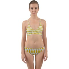 Pears Fruit Fruits Autumn Harvest Wrap Around Bikini Set by AnjaniArt