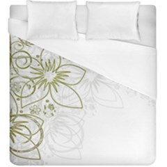 Flowers Background Leaf Leaves Duvet Cover (king Size) by Mariart