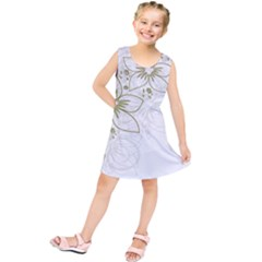 Flowers Background Leaf Leaves Kids  Tunic Dress