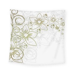Flowers Background Leaf Leaves Square Tapestry (small) by Mariart