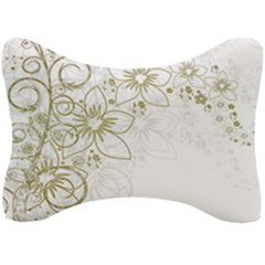 Flowers Background Leaf Leaves Seat Head Rest Cushion