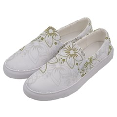 Flowers Background Leaf Leaves Men s Canvas Slip Ons by Mariart