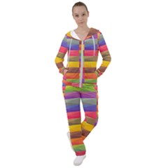 Abstract Background Geometric Women s Tracksuit