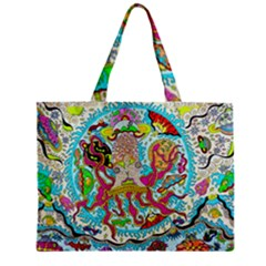 Supersonic Octopus Zipper Mini Tote Bag by chellerayartisans