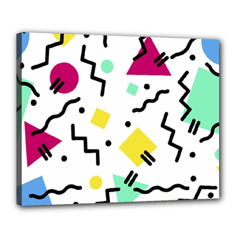 Abstract Squqre Chevron Canvas 20  X 16  (stretched)