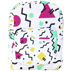 Abstract Squqre Chevron Full Print Backpack