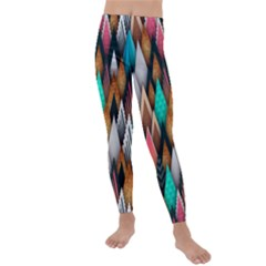 Abstract Triangle Tree Kids  Lightweight Velour Leggings