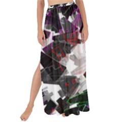 Abstract Science Fiction Maxi Chiffon Tie Up Sarong