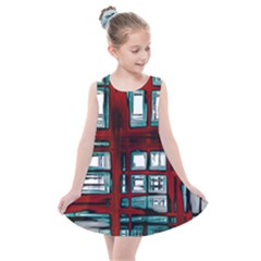 Abstract Color Background Form Kids  Summer Dress by Desi8477