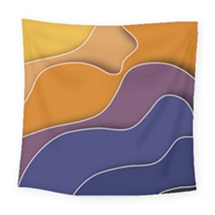 Autumn Waves Square Tapestry (large)