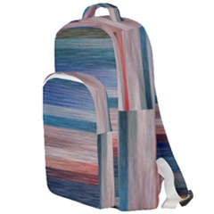 Background Horizontal Lines Double Compartment Backpack
