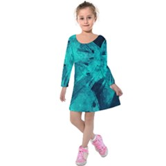 Background Texture Kids  Long Sleeve Velvet Dress