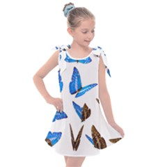Butterfly Unique Background Kids  Tie Up Tunic Dress