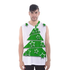 Christmas Green Tree Background Men s Basketball Tank Top