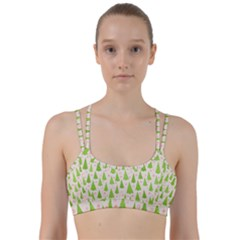 Christmas Green Tree Line Them Up Sports Bra