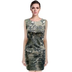 Grunge Camo Print Design Classic Sleeveless Midi Dress by dflcprintsclothing