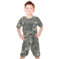 Grunge Camo Print Design Kids  Tee And Shorts Set by dflcprintsclothing