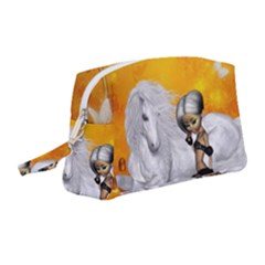 Wonderful Unicorn With Fairy Wristlet Pouch Bag (medium)