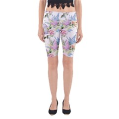 Spring Flowers Pattern Yoga Cropped Leggings by goljakoff