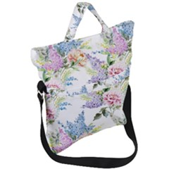 Spring Flowers Pattern Fold Over Handle Tote Bag by goljakoff