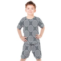 Digital Art Circle Kids  Tee And Shorts Set