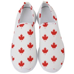 Maple Leaf Canada Emblem Country Men s Slip On Sneakers by Mariart