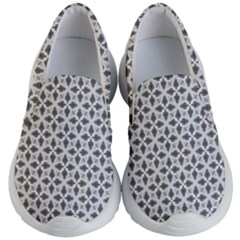 Black White Background Pattern Kids  Lightweight Slip Ons by AnjaniArt