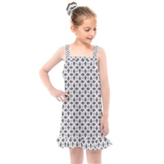 Black White Background Pattern Kids  Overall Dress by AnjaniArt