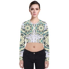 Circle Vector Background Abstract Long Sleeve Zip Up Bomber Jacket