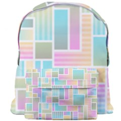 Color Blocks Abstract Background Giant Full Print Backpack