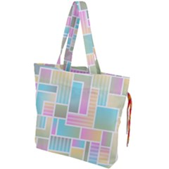 Color Blocks Abstract Background Drawstring Tote Bag