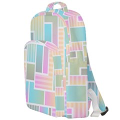 Color Blocks Abstract Background Double Compartment Backpack