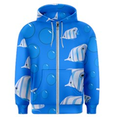 Fish School Bubbles Underwater Sea Men s Zipper Hoodie