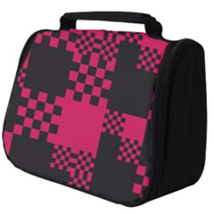 Cube Square Block Shape Full Print Travel Pouch (big)
