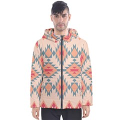 Tribal Signs 2          Men s Hooded Puffer Jacket by LalyLauraFLM