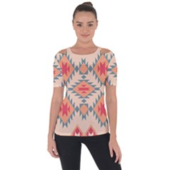 Tribal Signs 2         Shoulder Cut Out Short Sleeve Top by LalyLauraFLM