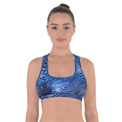 Funny Galaxy Tiger Pattern Cross Back Sports Bra by tarastyle