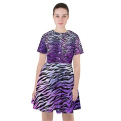 Funny Galaxy Tiger Pattern Sailor Dress